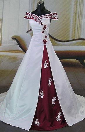 Svatební šaty - růžové i červené až do bordó - Svatební šaty MANILA