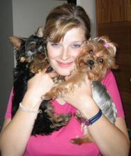 A zase já s naší psí slečnou Nelinkou (vpravo) a jejím psím kamarádem Kubíčkem