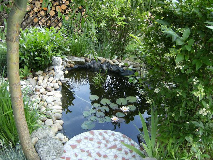 Voda v záhrade - Aj malé može byt pekné