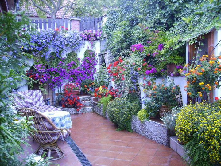 Skalky,skalničky a všeličo do záhrady - krásna terasa