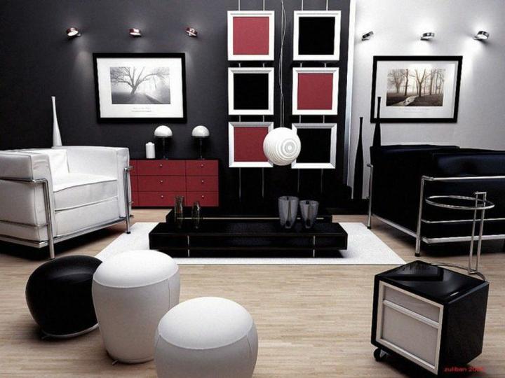 Black and White-zaujímavý kontrast - ladí so všetkými farbami