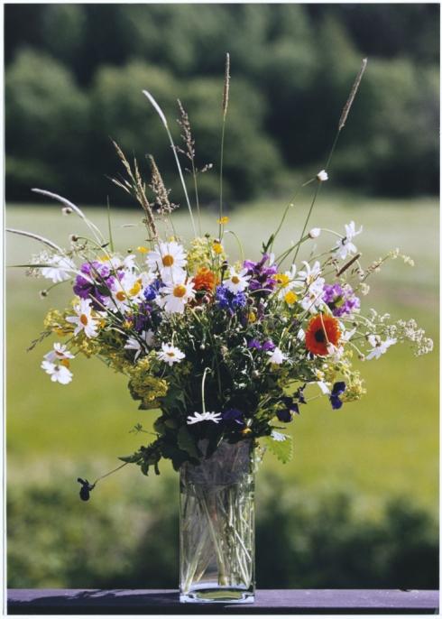 Dekorácie s lúčnymi kvetmi - Obrázok č. 53