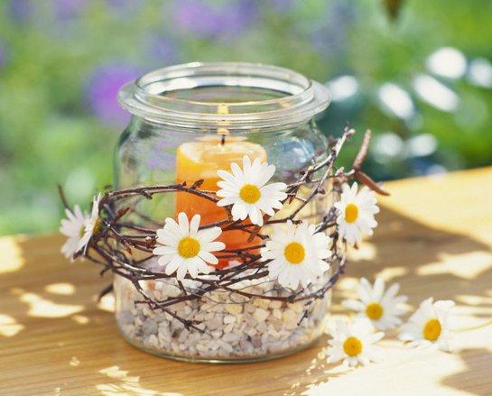 Dekorácie s lúčnymi kvetmi - Obrázok č. 88
