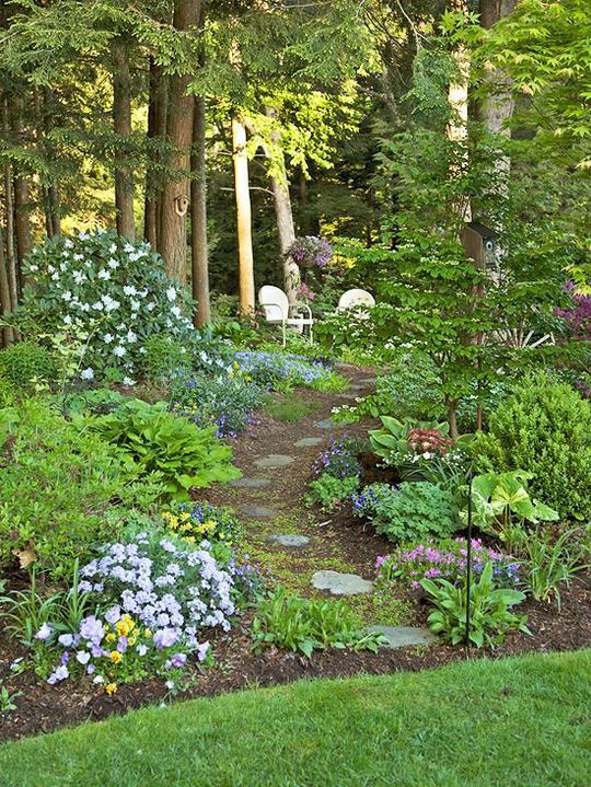 Krása divokej záhrady - má to niekto štastie-chodníček zo záhrady do lesa