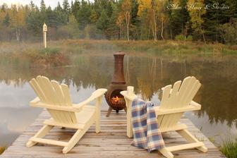 aj v jeseni sa dá posediet pri vode,ak máte takúto piecku