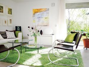 zelená v interiéri sa dá nádherne kombinovať...