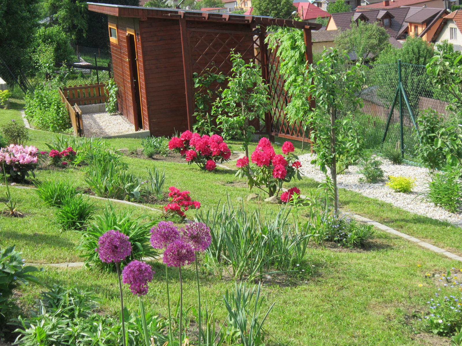 Moja záhrada...ako šiel čas - Náš záhradný domček...