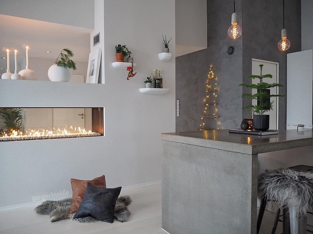 Škandinávsky interiér s vianočnou atmosférou - Obrázok č. 49