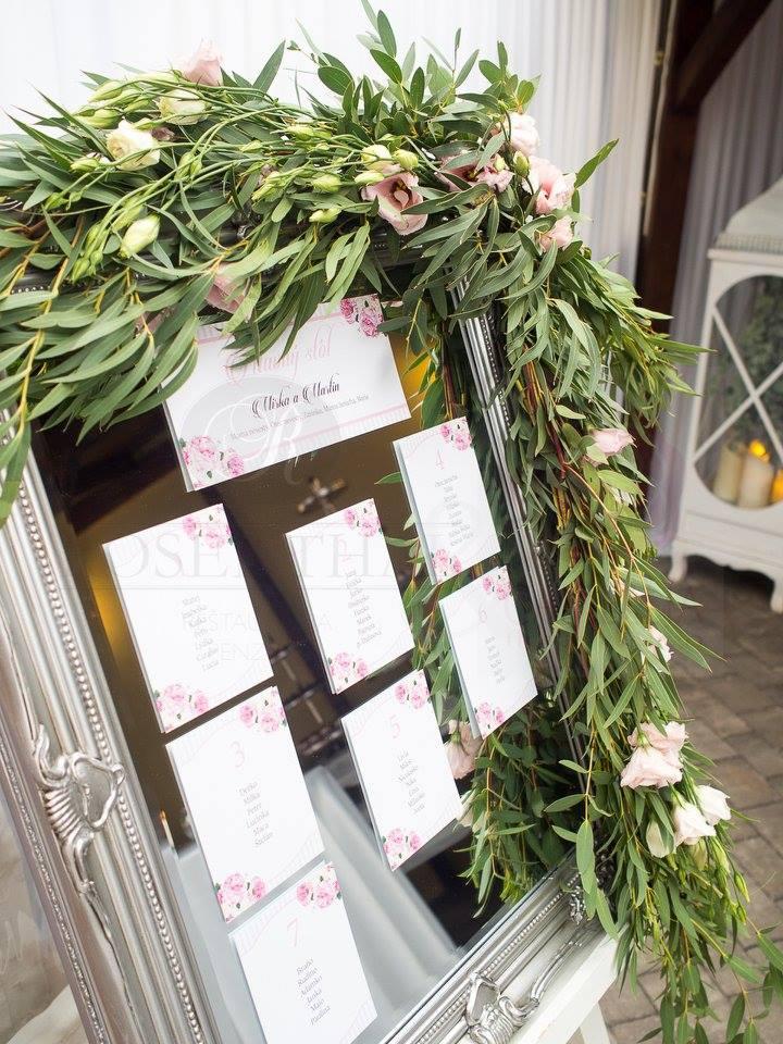 Zasadací poriadok - Penzión Rosental a Camellia floral design