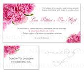 Svadobné oznámenie - Pivonka,