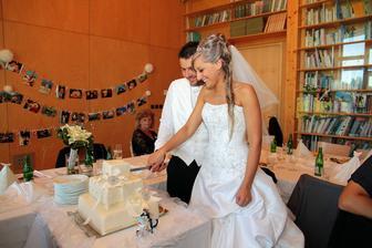 Krájení dortíčku.....že ho ale by škoda...taková krása :D :D