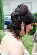 Můj svatební účes...Neměla jsem příčesek, ale šikovnou kadeřnici...