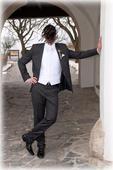 Svadobný oblek sivý, 52