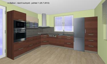 První návrh kuchyně a já jsem se zamilovala :o)