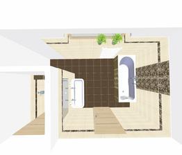 Dolní koupelna, ještě budou menší úpravy.