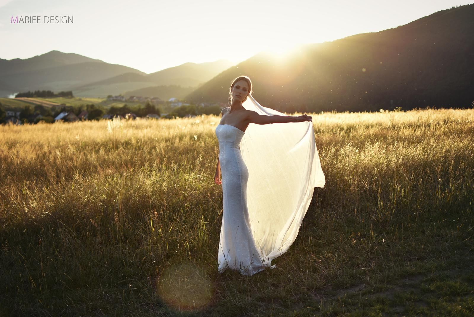 Luxusné svadobné závoje z francúzskeho hodvábneho tylu - Obrázok č. 3