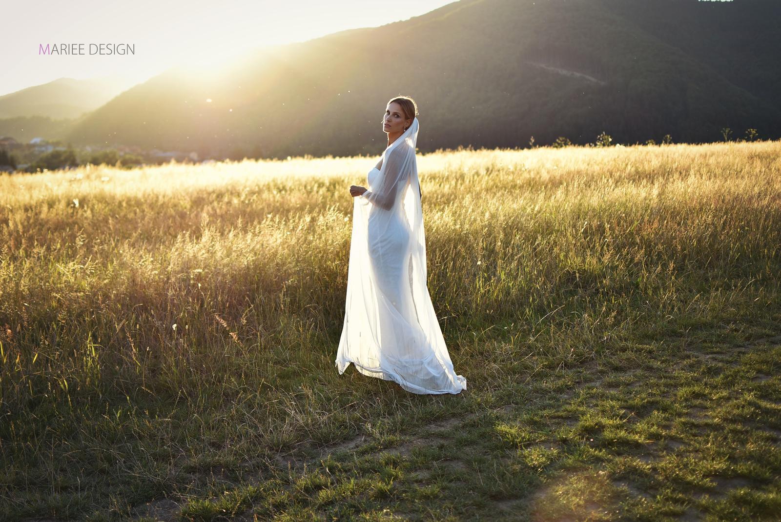 Luxusné svadobné závoje z francúzskeho hodvábneho tylu - Obrázok č. 4