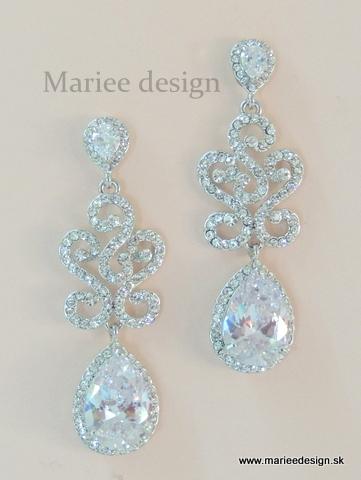 Luxusné svadobné náušnice - Obrázok č. 3