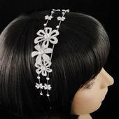 Svadobná čelenka do vlasov,