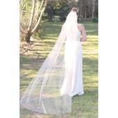 Hladký svadobný závoj kaplnkový I6,
