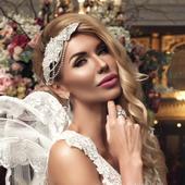 Luxusná svadobná krištáľová ozdoba do vlasov,