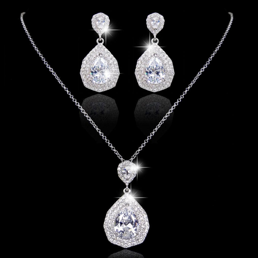 Svadobný/spoločenský náhrdelník a náušnice  - Obrázok č. 4