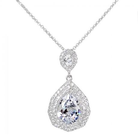 Svadobný/spoločenský náhrdelník a náušnice  - Obrázok č. 2