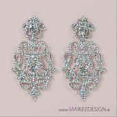 Nádherné chandelier krištáľové náušnice,