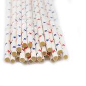 Slamky s hviezdičkami 25 kusov v balení,