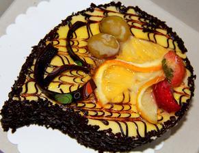 Banánovo čokoládový dort