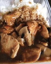 Na obidek kuřecí se žampiony a rýží
