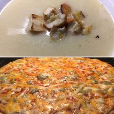 Moje první chřestová polévka, výborná byla a pizza kupovaná taky😄😄