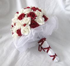 takovou svatební kytici bych chtěla, ale pravděpodobně dám přednost živé verzi :)