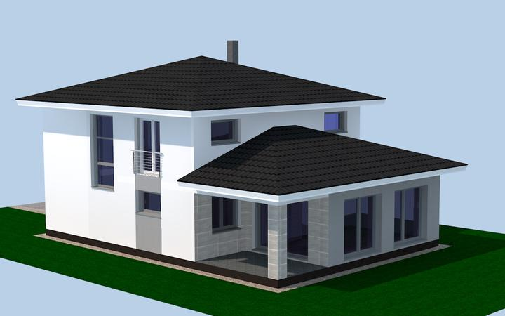 Kto máte tento tip domu dajte ukážku fasády rozmýšľam dať vrch tmavsi ako spodok inšpirujte ma - Obrázok č. 1