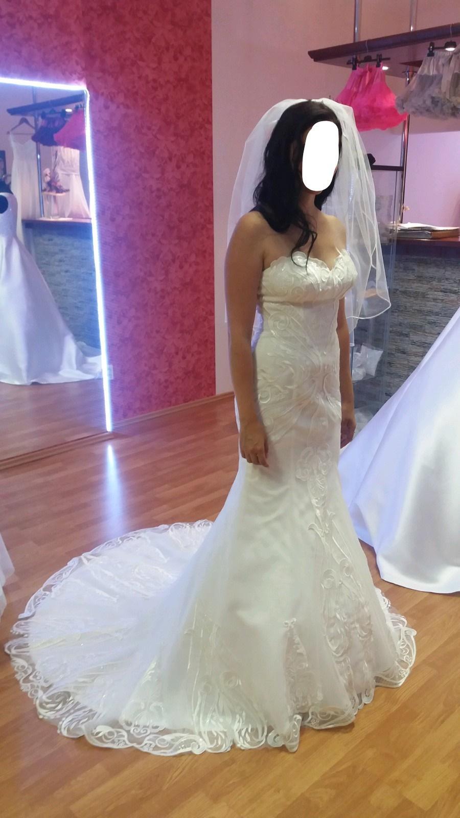 Svadobné šaty s 3d čipkou v ivory farbe - Obrázok č. 4