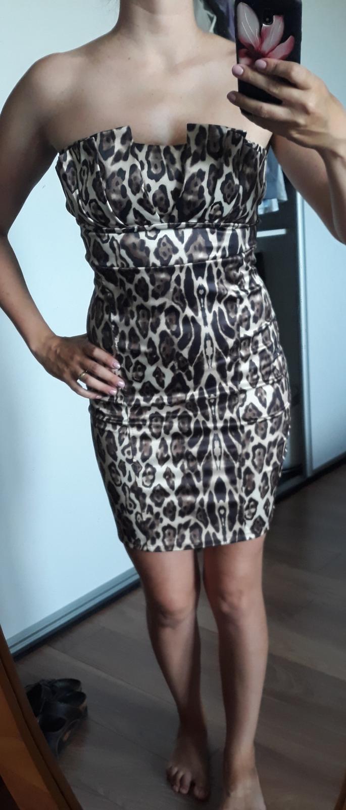 Šaty s leopardím vzorom - Obrázok č. 1