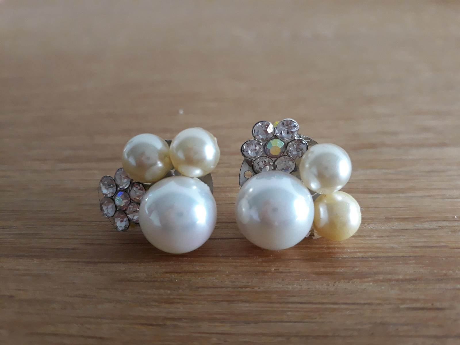 Naušničky s perlami a zirkónmi - Obrázok č. 1