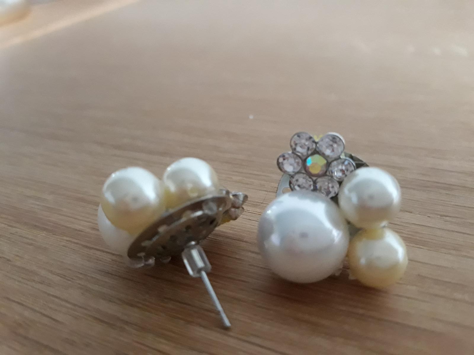 Naušničky s perlami a zirkónmi - Obrázok č. 2