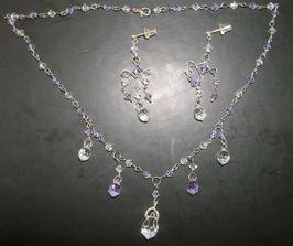 a toto jsou mé svatební šperky, z komponentů Swarovski, Preciosa a chirugické oceli