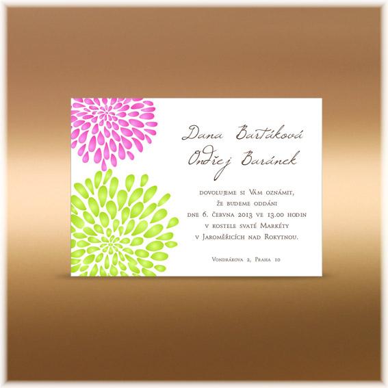 Květinová přírodní oznámení - Obrázek č. 13