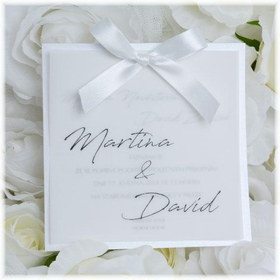 Elegantní klasická svatební oznámení s ražbou, slepotiskem či laserované nebo s fotkou - Obrázek č. 195