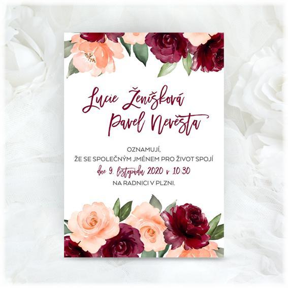 Podzimní svatební oznámení - www.svatebni-oznameni-printia.cz