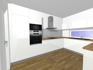 Naše kuchyň - jen sokl bude nakonec bílý lakovaný