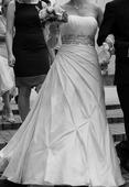 svadobné šaty šampaň, 38