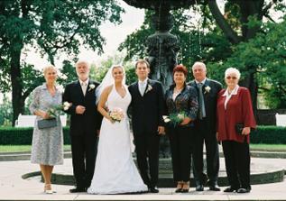 S rodiči a babičkou