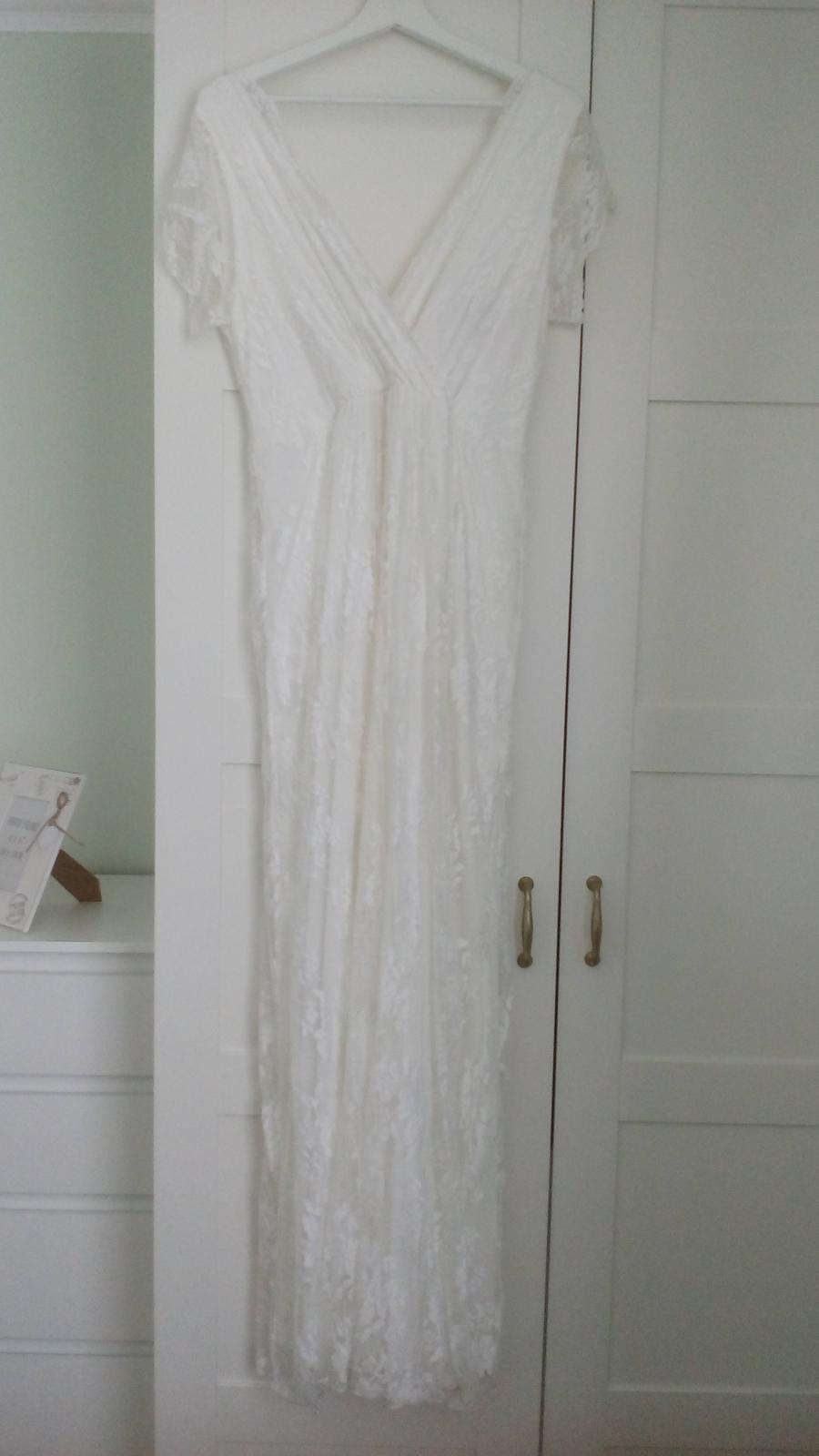 Tehotenské svadobné šaty - Obrázok č. 2