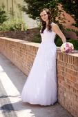 svatební šaty v. 36/38 + kruhová spodnice, 36