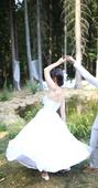Retro svatebni šaty s puntíky, 38