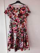 Šaty Lindy Bop s velkými květy, 40