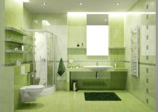 horná kúpelňa bude asi zelená